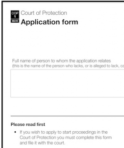 Court of Protection Application